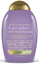 Парфюмерия и Козметика Балсам за боядисана коса с лавандулово масло - OGX Lavender Luminescent Platinum Conditioner