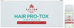 Парфюми, Парфюмерия, козметика Ампули за изтощена и увредена коса - Kallos Cosmetics Pro-Tox Hair Ampoule