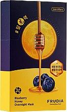 Парфюмерия и Козметика Подхранваща нощна маска за лице с боровинка и мед - Frudia Blueberry Honey Overnight Mask