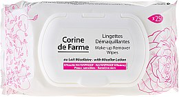 Парфюмерия и Козметика Мокри кърпички за почистване на грим - Corine de Farme Wipes