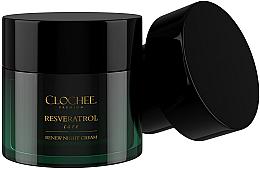 Парфюмерия и Козметика Нощен крем за лице с ресвератрол - Clochee Premium Renew Night Cream