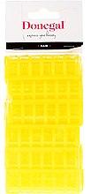 Парфюмерия и Козметика Ролки за коса 9218, 20 мм, жълти, 12 бр. - Donegal Hair Curlers