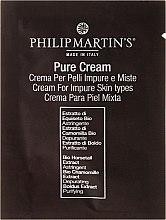 Парфюми, Парфюмерия, козметика Крем за проблемна кожа на лицето - Philip Martin's Pure Cream (мостра)