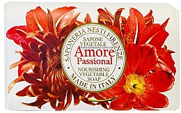 Парфюмерия и Козметика Сапун с екстракт от ванилия, бадем, портокали и тропически плодове - Nesti Dante Amore Passional Nourishing Vegetable Soap