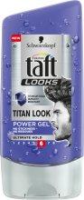 Парфюмерия и Козметика Гел за коса за мъже - Schwarzkopf Taft Looks Titan Look Power Gel No Stickness-No Residues