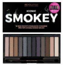 Парфюми, Парфюмерия, козметика Палитра сенки за очи, 12 цвята - Makeup Revolution Redemption Eyeshadow Powders Palette