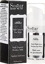 Парфюмерия и Козметика Мъжки серум за коса - Sostar Donkey Milk Men Anti-Hair Loss Serum