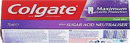 """Парфюми, Парфюмерия, козметика Паста за зъби """"Неутрализатор на захарните киселини"""" - Colgate Maximum Cavity Protection Fresh Mint"""