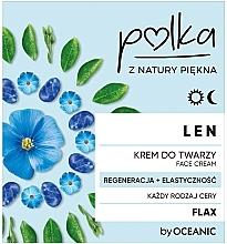 Парфюмерия и Козметика Регенриращ лифтинг крем за лице с лен - Polka Face Cream