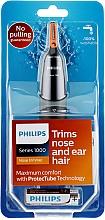 Парфюмерия и Козметика Тример за нос и уши - Philips NT1150/10