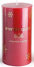 Парфюмерия и Козметика Ароматна свещ, червена, 7х8см - Artman Winter Glass