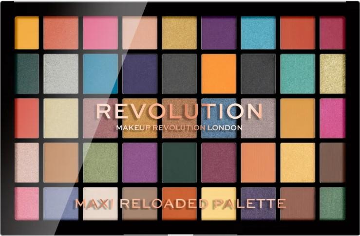 Палитра сенки за очи, 45 цветове - Makeup Revolution Maxi Reloaded Palette