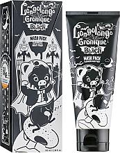 Парфюмерия и Козметика Дълбоко почистваща пилинг маска за лице с активен въглен - Elizavecca Milky Piggy Hell Pore Longolongo Gronique Black Mask Pack