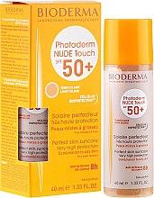 Парфюми, Парфюмерия, козметика Слънцезащитна минерална тонираща основа за лице - Bioderma Photoderm Nude Touch FPS 50 Claro