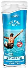 Парфюмерия и Козметика Душ гел-шампоан 5 в 1 за мъже - Joanna Fit For Life 5in1 Shower Gel For All Body Odour Stoper For Men (мини)
