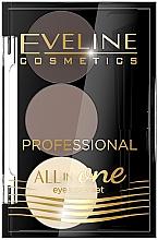 Парфюмерия и Козметика Палитра сенки за вежди - Eveline Cosmetics All In One Eyebrow Styling Set