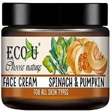 Парфюмерия и Козметика Крем за лице с екстракт от тиква и спанак - Eco U Pumpkins And Spinach Face Cream