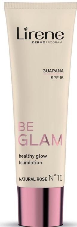 Тонален крем за лице - Lirene Be Glam SPF 15 Healthy Glow Foundation — снимка N1