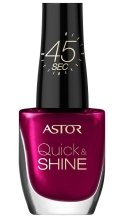Парфюмерия и Козметика Лак за нокти - Astor Quick and Shine Nail Polish
