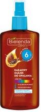 Парфюми, Парфюмерия, козметика Масло за тен с какао SPF6 - Bielenda Bikini Cocoa Suntan Oil Low Protection