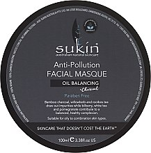 Парфюми, Парфюмерия, козметика Маска за лице против замърсявания - Sukin Oil Balancing + Charcoal Anti-Pollution Facial Masque