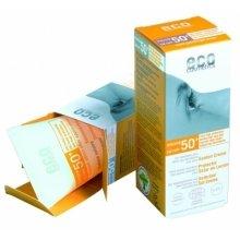 Парфюмерия и Козметика Слънцезащитен крем SPF 50+ с екстракт от нар и морски зърнастец - Eco Cosmetics Suntan Cream SPF 50+