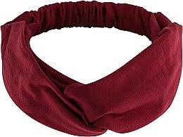 """Парфюмерия и Козметика Лента за глава, от плат, бордо """"Knit Twist"""" - MakeUp Hair Accessories"""