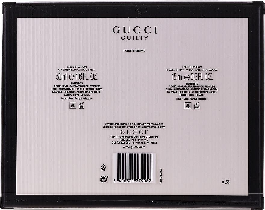 Gucci Guilty Pour Homme - Комплект парфюмна вода (edp/50 ml + edp/15 ml) — снимка N2