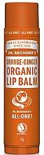 """Парфюми, Парфюмерия, козметика Балсам за устни """"Портокал и джинджифил"""" - Dr. Bronner's Orange & Ginger Lip Balm"""