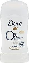 Парфюмерия и Козметика Стик дезодорант - Dove Original 0% Aluminium Salts Deodorant