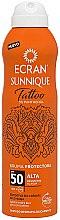 Парфюмерия и Козметика Слънцезащитен спрей за татуировки - Ecran Sunnique Tattoo Protective Mist SPF50