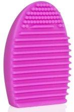 Парфюмерия и Козметика Розов оребрен уред от силикон за почистване на четка за грим 4499 - Donegal Brush Cleaner