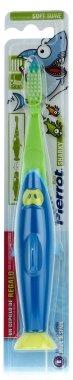 """Детска четка за зъби """"Акула"""", синьо със зелено - Pierrot Kids Sharky Soft — снимка N1"""