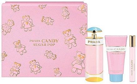 Prada Candy Sugar Pop - Комплект (парф. вода/80ml + парф. вода/10ml + лосион за тяло/75ml) — снимка N1