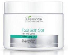Парфюмерия и Козметика Соли за педикюр с лайм и мента - Bielenda Foot Bath Salt with Lime & Mint