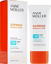 Парфюмерия и Козметика Слънцезащитен флуид за лице - Anne Moller Double Care Ultralight Facial Protection Fluid SPF30