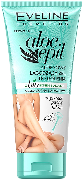 Успокояващ гел за бръснене - Eveline Cosmetics Aloe Epil