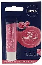 Комплект за лице - Nivea Rose Care (балсам за устни/5.5ml + крем/50ml + мицел. вода/200) — снимка N2