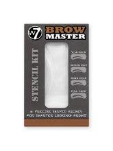 Парфюми, Парфюмерия, козметика Комплект шаблони за вежди - W7 Brow Master Stencil Kit