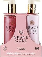 Парфюмерия и Козметика Комплект за ръце - Grace Cole Warm Vanilla & Sandalwood (сапун/300ml + лосион/300ml)