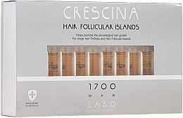Парфюмерия и Козметика Ампули за стимулиране на растежа на косата при мъже 1700 - Crescina Hair Follicular Islands Re-Growth 1700