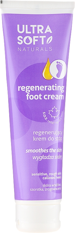 Регенериращ крем за крака - Ultra Soft Naturals Regenerating Foot Cream Smoothes