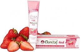Парфюмерия и Козметика Детска паста за зъби с вкус на ягода - Twin Lotus Dok Bua Ku Kids Herbal Toothpaste Strawberry Flavor