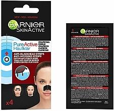 Парфюмерия и Козметика Пластири против черни точки - Garnier Skin Active Pure Active Anti-Blackhead Charcoal Strips