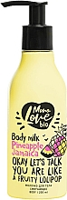 Парфюмерия и Козметика Омекотяващо мляко за тяло с ананас - MonoLove Bio Pineapple Jamaica Body Milk