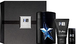 Парфюми, Парфюмерия, козметика Thierry Mugler A Men - Комплект (тоал. вода/100ml + део/20ml + душ гел/50ml)