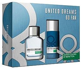 Парфюми, Парфюмерия, козметика Benetton United Dreams Go Far - Комплект (тоал. вода/100ml + део/150ml)