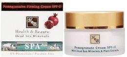 Парфюми, Парфюмерия, козметика Крем на основата на нар за повишена еластичност - Health And Beauty Pomegranates Firming Cream SPF 15