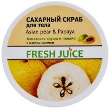 Парфюмерия и Козметика Захарен скраб за тяло с азиатска круша и папая - Fresh Juice Asian Pear & Papaya