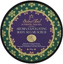 Парфюмерия и Козметика Скраб за тяло с масло от оризови трици и алое вера - Sabai Thai Rice Milk Aroma Exfoliating Body Sugar Scrub